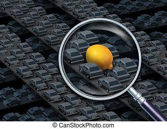 Driving A Lemon Car Concept - Driving a lemon car concept as...