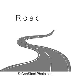 Driving a winding road
