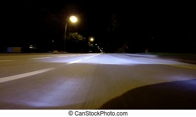 Driving at night - High Speed (Acce