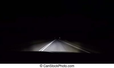 driving by car at night