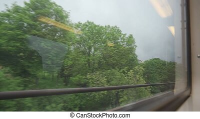 Driving By Train From Paris To Versailles, France - native...