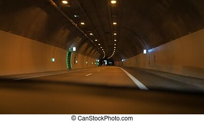 Driving Car In The Tunnel