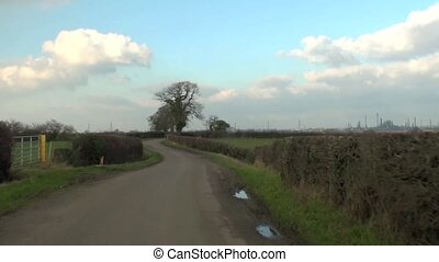 Driving down a country lane