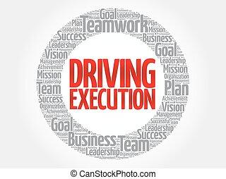 Driving Execution circle stamp