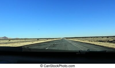 Driving Fast Through the Nevada Desert in Red Rock USA....
