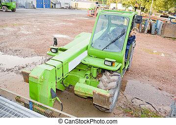 driving heavy machinery