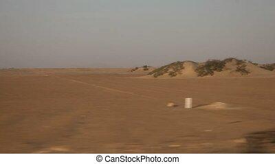 Driving In Desert
