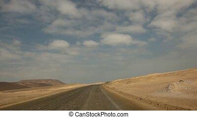 Driving in Desert - TIMELAPSE