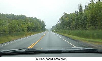 Driving in Muskoka. Straightaway.