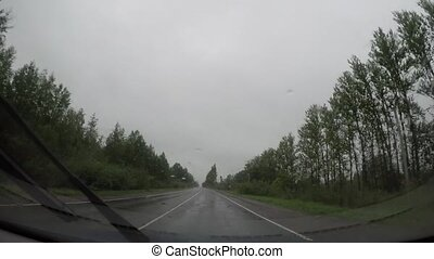 driving in rainy weather