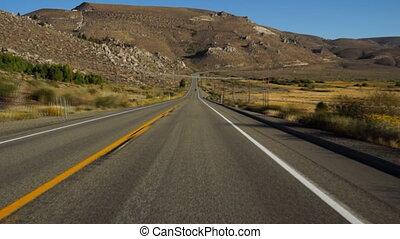 Driving in Sierra-Nevada - CA, USA
