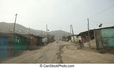Slums in Lima, Peru, Sou - Driving in Slums in Lima, Peru,...