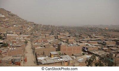 Driving in Slums in Lima, Peru