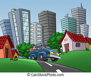 driving in the city