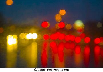 Abstract street lights