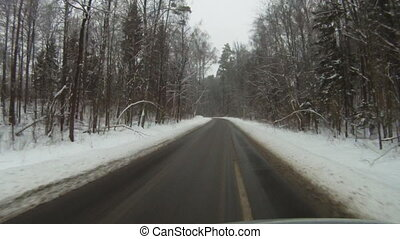 Driving in winter 2