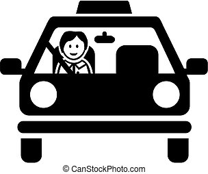 Driving instructor pictogram