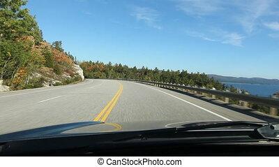 Driving North shore Lake Superior. - North shore of Lake...