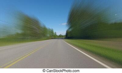 Driving on Finich lake