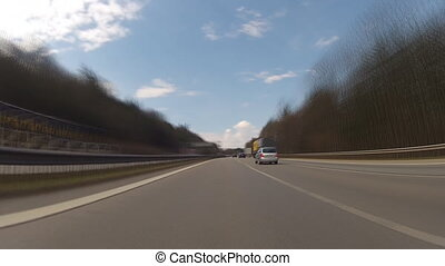 Driving on German highway