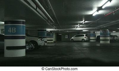 Driving on underground parking