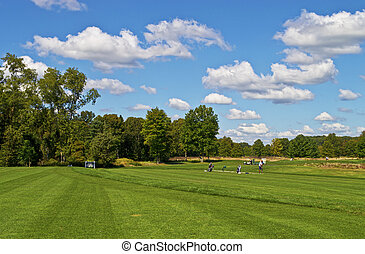 Driving Range - The driving range at Charleston Springs Golf...
