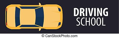 Driving School Banner. Auto Education. The rules of the...