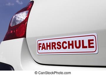 driving school car sign