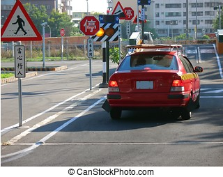 Driving School - -- each traffic sign has its meaning...