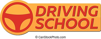 Driving school logo. Auto Education. The rules of the road.