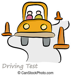 Driving Test Drawing