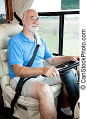 Driving the Motor Home