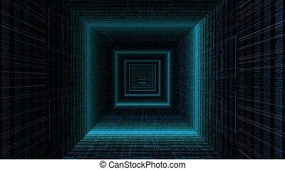 Driving through binary data tunnel