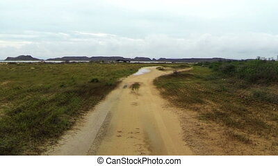 Driving through Rough Desert Terrai