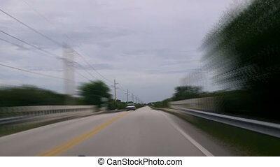 Driving Time Lapse Florida