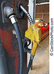drivmedel, årgång, pump, bensin, bil