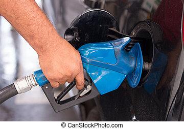 drivmedel, bensin, tillförsel, fordon, station