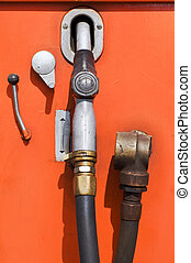 drivmedel pumpa, gammal