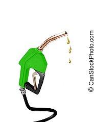 drivmedel pumpa, grön