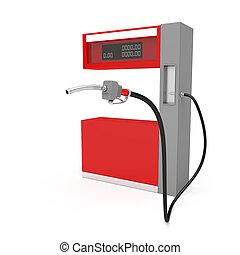 drivmedel pumpa, vit fond