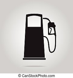 drivmedel, symbol, pump