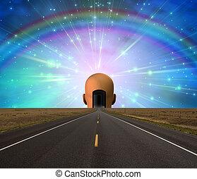 droga, do, oświecenie