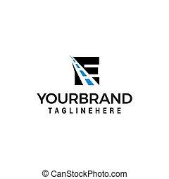 droga, logo, projektować, litera, droga, twórczy, e, szablon