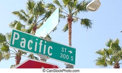 droga, marszruta, vacations.signboard, kalifornia, symbol, ...