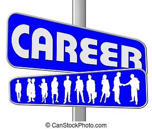 droga znaczą, błękitny, kariera