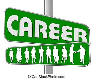 droga znaczą, zielony, kariera