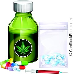 drogas, diferente, clases