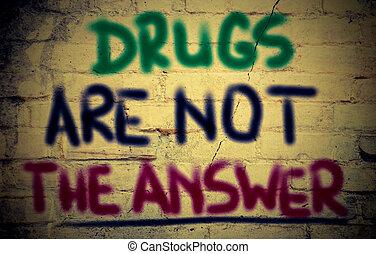 drogen, antwort, begriff, not