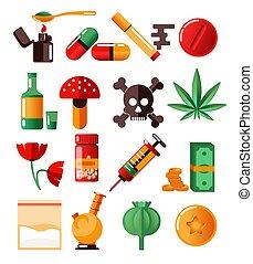 drogen, marihuana, ekstase, sucht, kokain, heldin