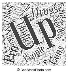 droghe, concetto, parola, riabilitazione, nuvola